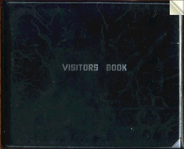 Can you find yourself in the visitorsbook?